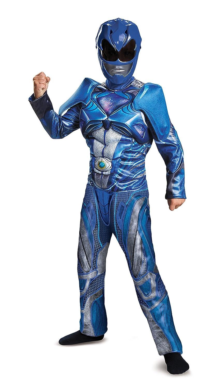 Boys Blue Power Rangersムービーマッスルコスチューム Small (4-6) 19082L   B01MTEZSAH