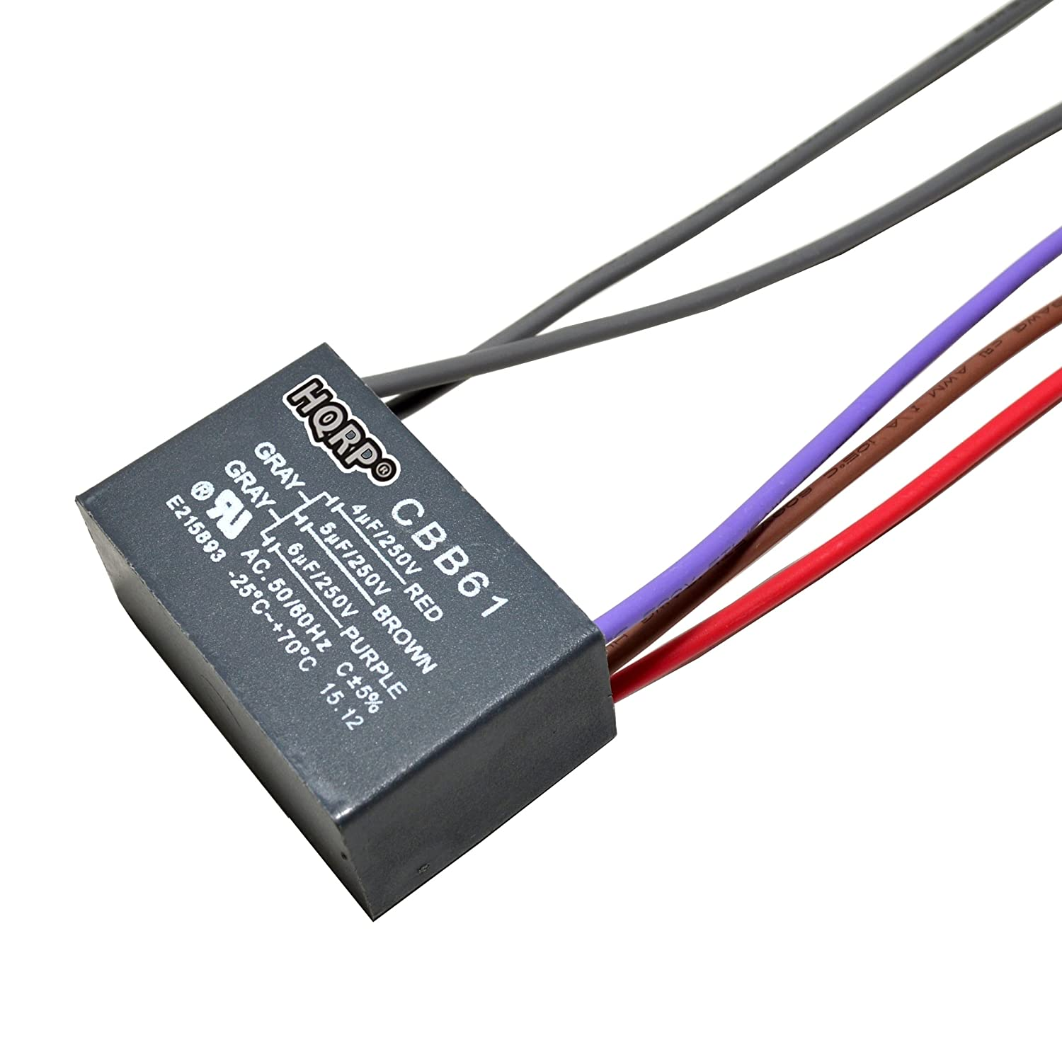HQRP Capacitor Compatible with Hampton Bay Ceiling Fan 4uf+5uf+6uf on