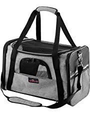Aivituvin Pet Carrier for Dog and Cat,Soft Sided Collapsible Travel Bags for Small or Medium Animal,Durable