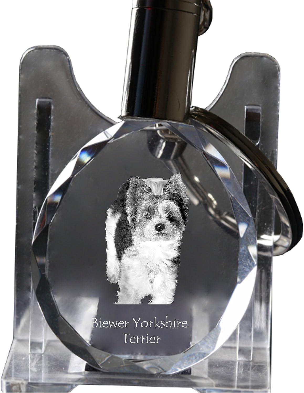 Keychain Biewer Yorkshire Terrier Dog Crystal Keyring Exceptional Gift