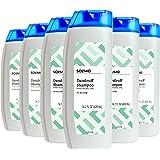 Amazon Brand - Solimo Dandruff Shampoo, Dry Scalp, 14.2 Fluid Ounce (Pack of 6)