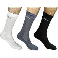 Heelium Bamboo Socks, Calf Length, Odour Control, Black, Dark Grey and Light Grey, Men
