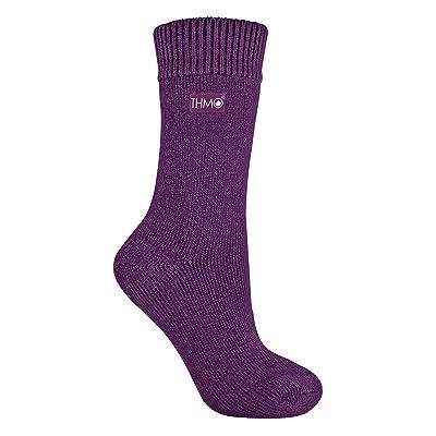 THMO - Mujer Invierno Nieve Calcetines Termicos sin Costuras (37/42, 23 Purple): Ropa y accesorios