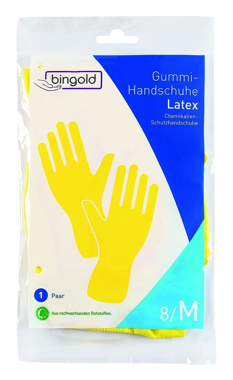 BINGOLD Latex Schutzhandschuhe blau 1 Paar