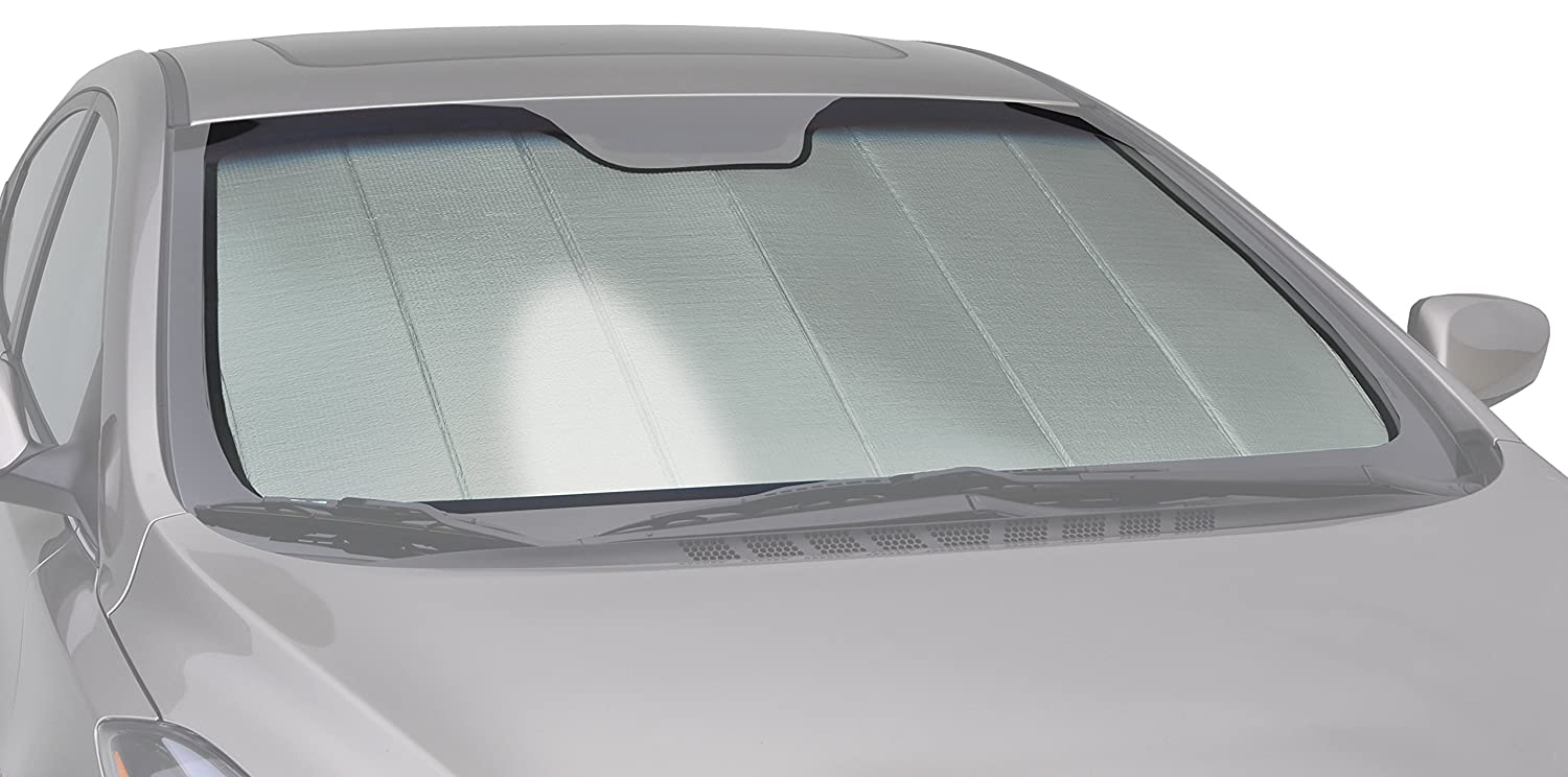 Silver Intro-Tech Automotive Intro-Tech LN-33 Custom Fit Windshield Sunshade for Select Lincoln MKT Models