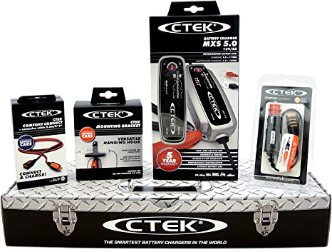 CTEK 40-006 Supporto Murale per Carica Batterie Black