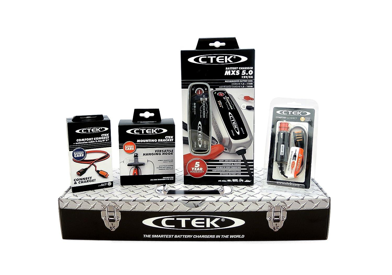 CTEK MXS5.0 (56-305) Toolbox Set - Cargador de batería con ...