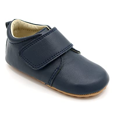 8233951c2 Luxury Classic Leather Boys Occasion Shoe - Baby and Toddler First Walking  Shoe in Navy –