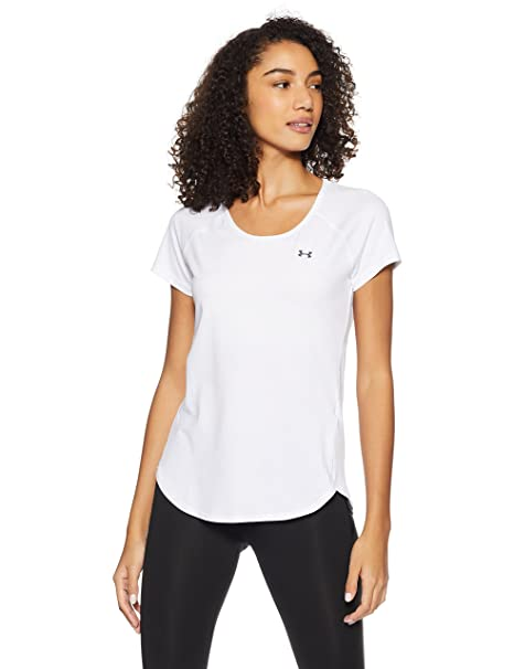 da0be77b Under Armour HeatGear Armour Cool Switch Short Sleeve Women's Body Blouse  Top (1294068-100_White_X