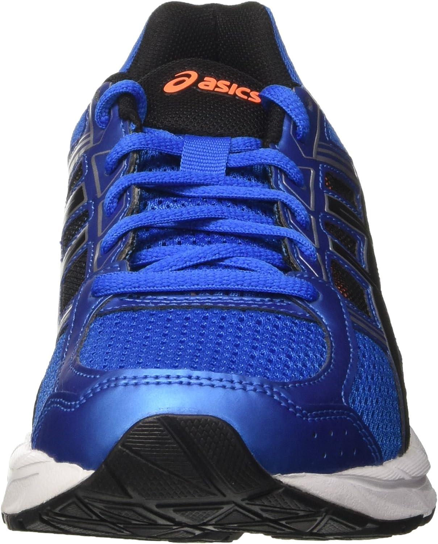 ASICS Herren Gel-Contend 4 T715n/4390 Men Laufschuhe Blau (Directoire Blue / Black / Hot Orange)