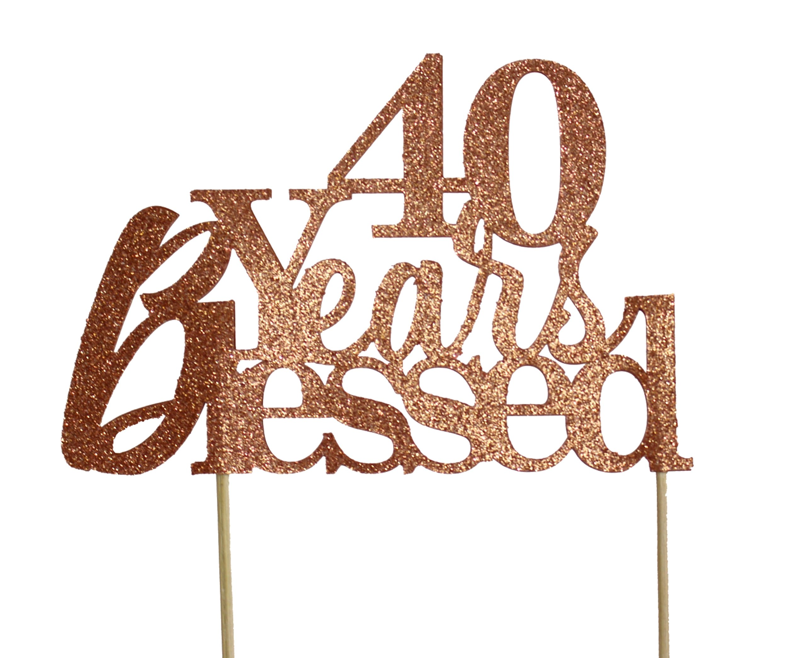 All About Details Copper 40-Years-Blessed Cake Topper