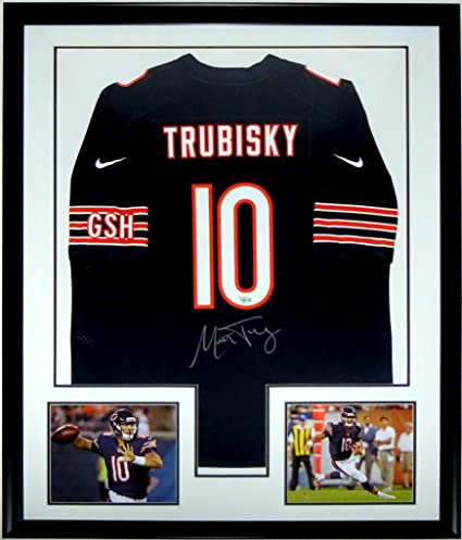 half off 35d4d 782b5 Mitchell Trubisky Signed Nike Chicago Bears Jersey ...