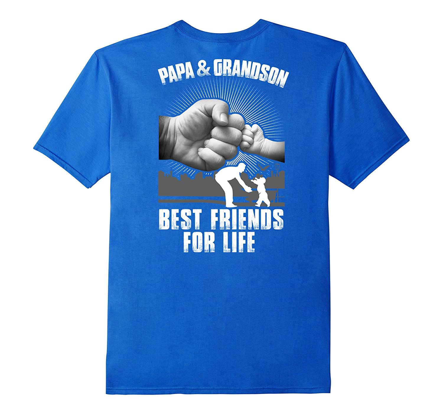 Mens Papa And Grandson Best Friends For Life T-Shirt  Hoodie-TH