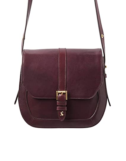 7c44718892 Joules Saddle Leather Bag - SS19 Oxblood One-Size  Amazon.co.uk  Clothing