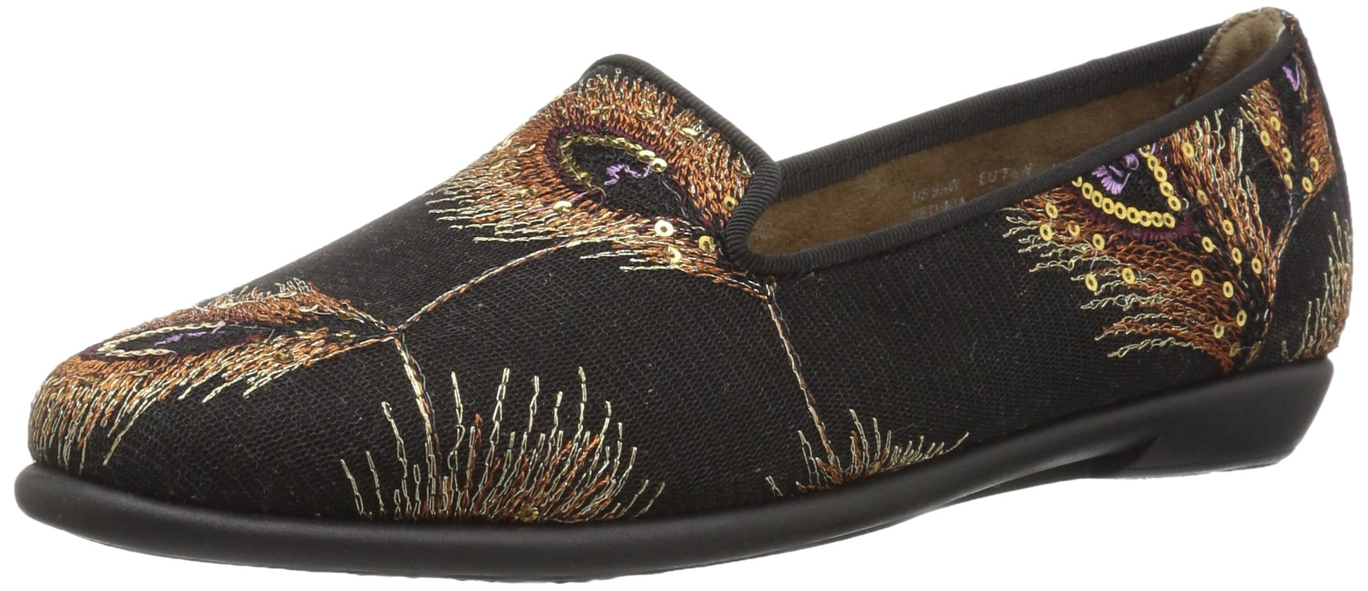 Aerosoles Women's Betunia Loafer, Black Metal Feather, 9 M US
