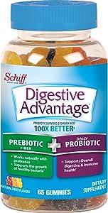 Prebiotic Fiber Plus Probiotic Natural Fruit Flavor Gummies, Digestive Advantage (65 Count In A Bottle) - Supports Digestive & Immune Health*
