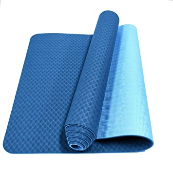 Cómodo tapete Antideslizante de Yoga de Dos Colores (183 ...