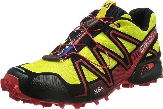 Salomon Speedcross 3, Zapatillas de Trail Running para Hombre, Amarillo (Corona Yellow/Black/Radiant Red), 42 EU: Amazon.es: Zapatos y complementos