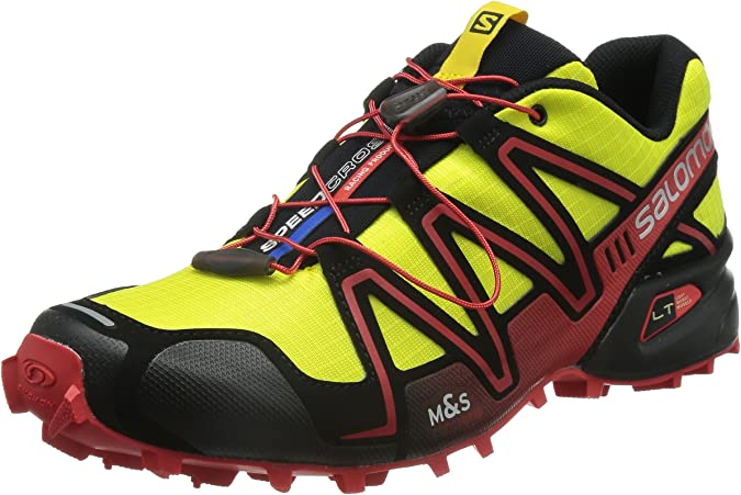 Salomon Speedcross 3, Zapatillas de Trail Running para Hombre, Amarillo (Corona Yellow/Black/Radiant Red), 45 1/3 EU: Amazon.es: Zapatos y complementos