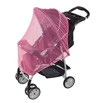 Pink Mosquito Net For Baby Strollers Carriers Car Seats Cradles Pack