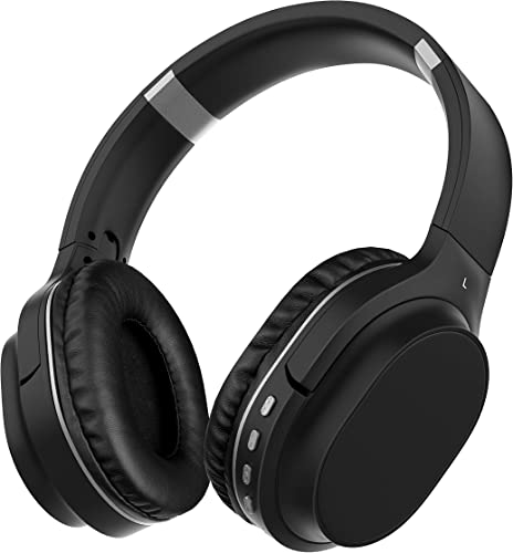 Noise Cancelling Headphones Bluetooth Headphones with Microphone Deep Bass Wireless Headphones Over Ear, Comfortable Protein Earpads, Support TF Card, 30 Hours Playtime for Travel Work Airplane