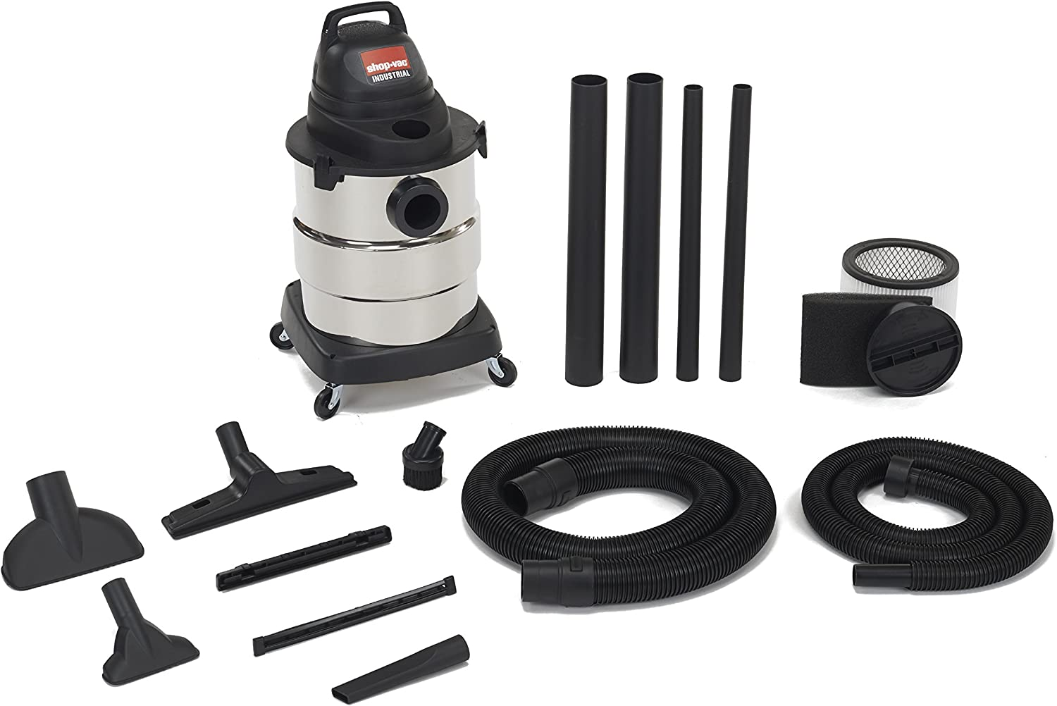 Shop-Vac 6000110 4.5 Peak HP Stainless Steel Wet Dry Vacuum, 6-Gallon 71eNmbMZmtLSL1500_