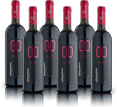 alternativa® - Tinto Dry - 0.0% vol (Caja de 6 botellas 750ml): Amazon.es: Alimentación y bebidas