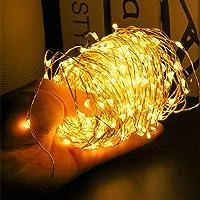 200 مصباح ليد نجمية نجمية نجمية مصابيح سلسلة تعمل بالكهرباء عبر USB ، مصابيح إضاءة لامعة نحاسية قابلة للانحناء مع إضاءة…