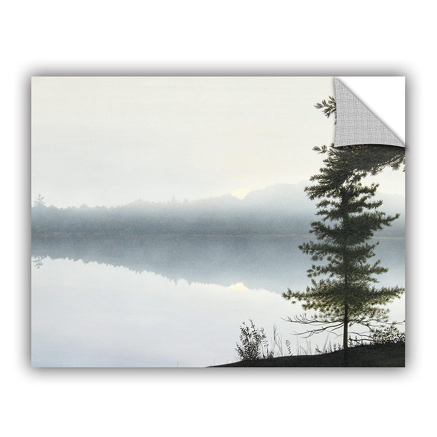 24 by 32 ArtWall Ken Kirshs Morning Fog Hires Appeelz Removable Graphic Wall Art