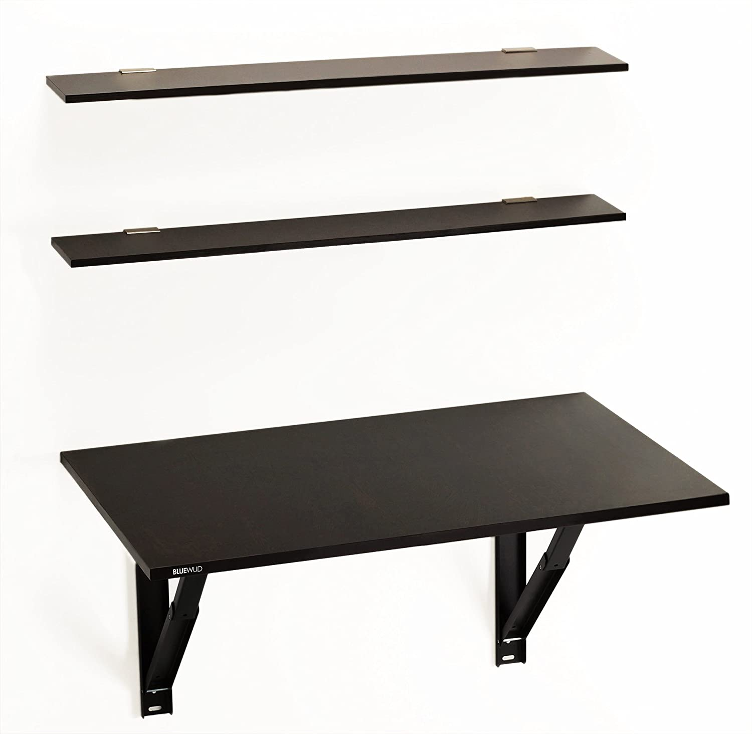 foldable office table. Bluewud Hemming Folding Wall Mounted Study/Computer/Laptop/Office Table With Book Shelves (Wenge): Amazon.in: Home \u0026 Kitchen Foldable Office