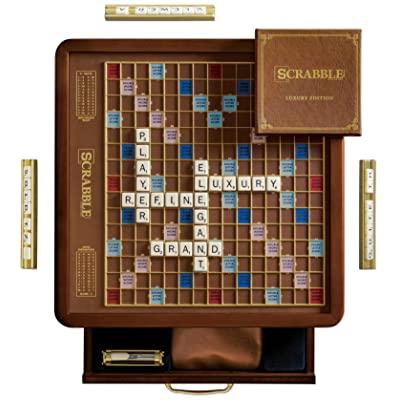WS Game Company Scrabble Luxury Edition with Rotating Game Board: Toys & Games
