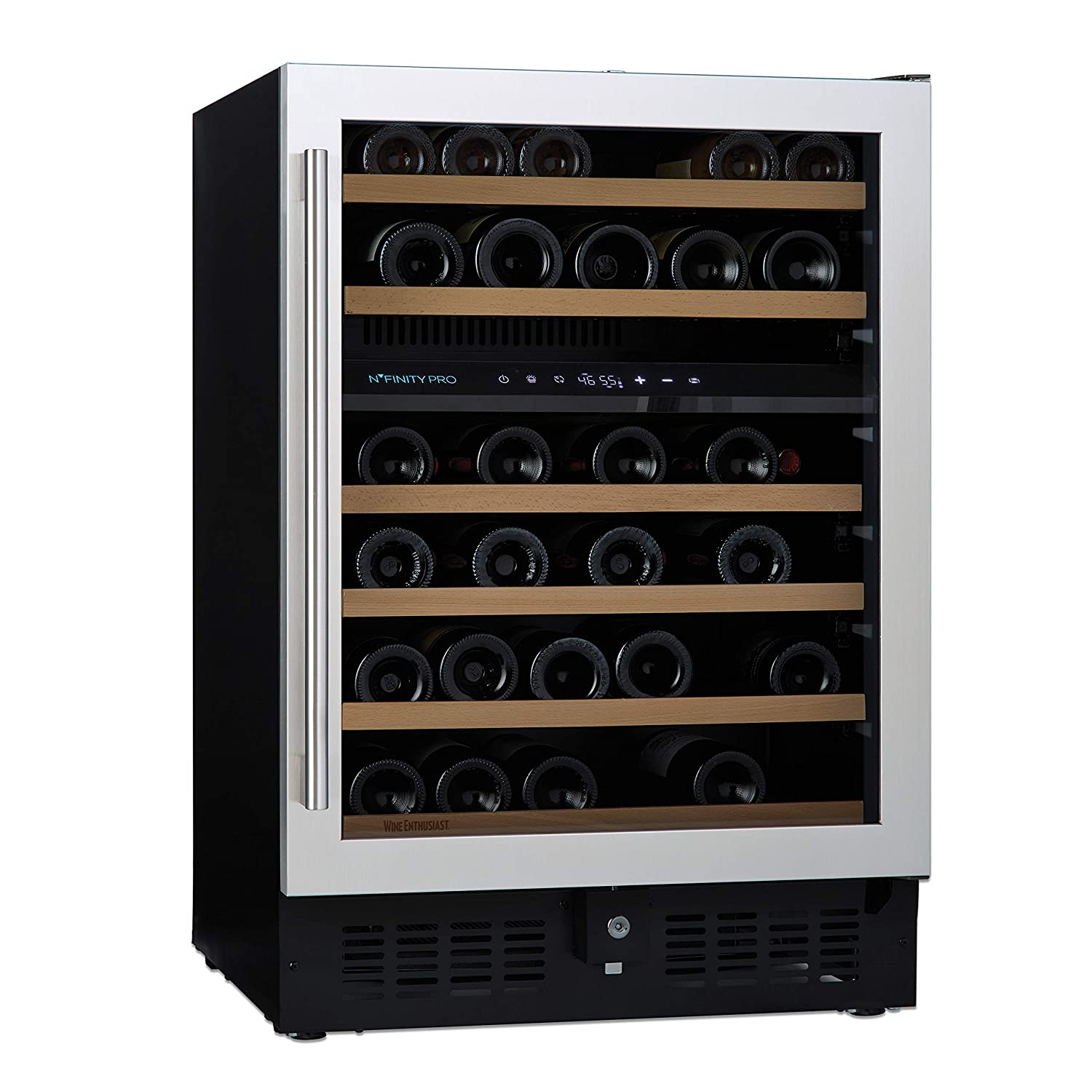 N'FINITY PRO S by Wine Enthusiast Dual Zone Wine Cellar - Stainless Steel Door with Right Hinge