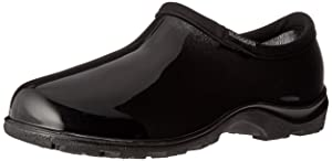 Sloggers Women's Waterproof Rain and Garden Shoe with Comfort Insole, Classic Black, Size 8, Style 5100BK08