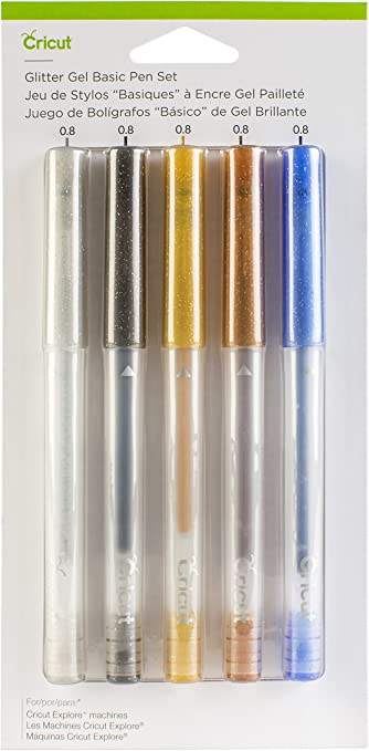 4x Metallic Gold and Silver Pens Gel Glitter cards notes fun glamour