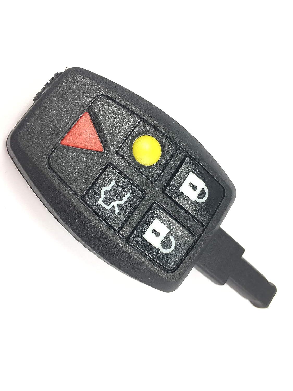 Automobile Locksmith 5 Button Remote Key Shell Case for Volvo S40 V50 V70 C70 S60 Smart Remote Key Fob
