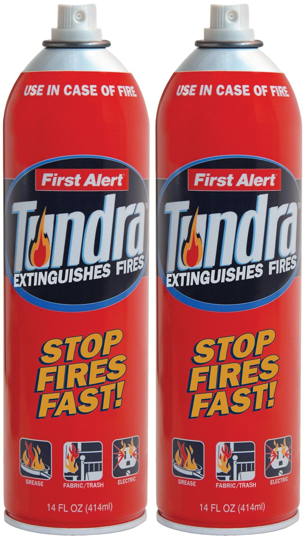 First Alert AF400-2 Tundra Fire Extinguishing Aerosol Spray, Pack of 2
