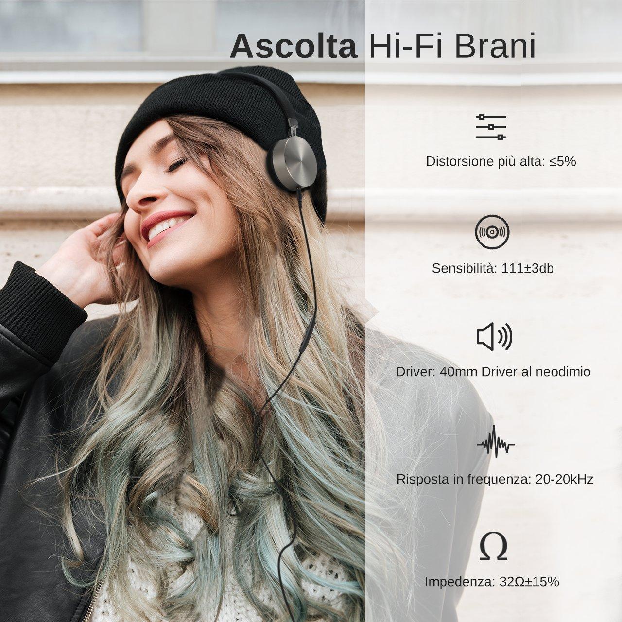 Cuffie Cablate Hi-Fi Stereo Aitop