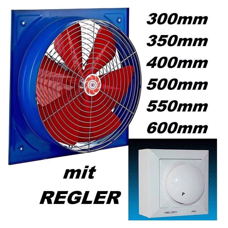 400mm Ventilador con 500W Regulador de Velocidad Ventilaci/ón Extractor Helicoidal Helicoidales