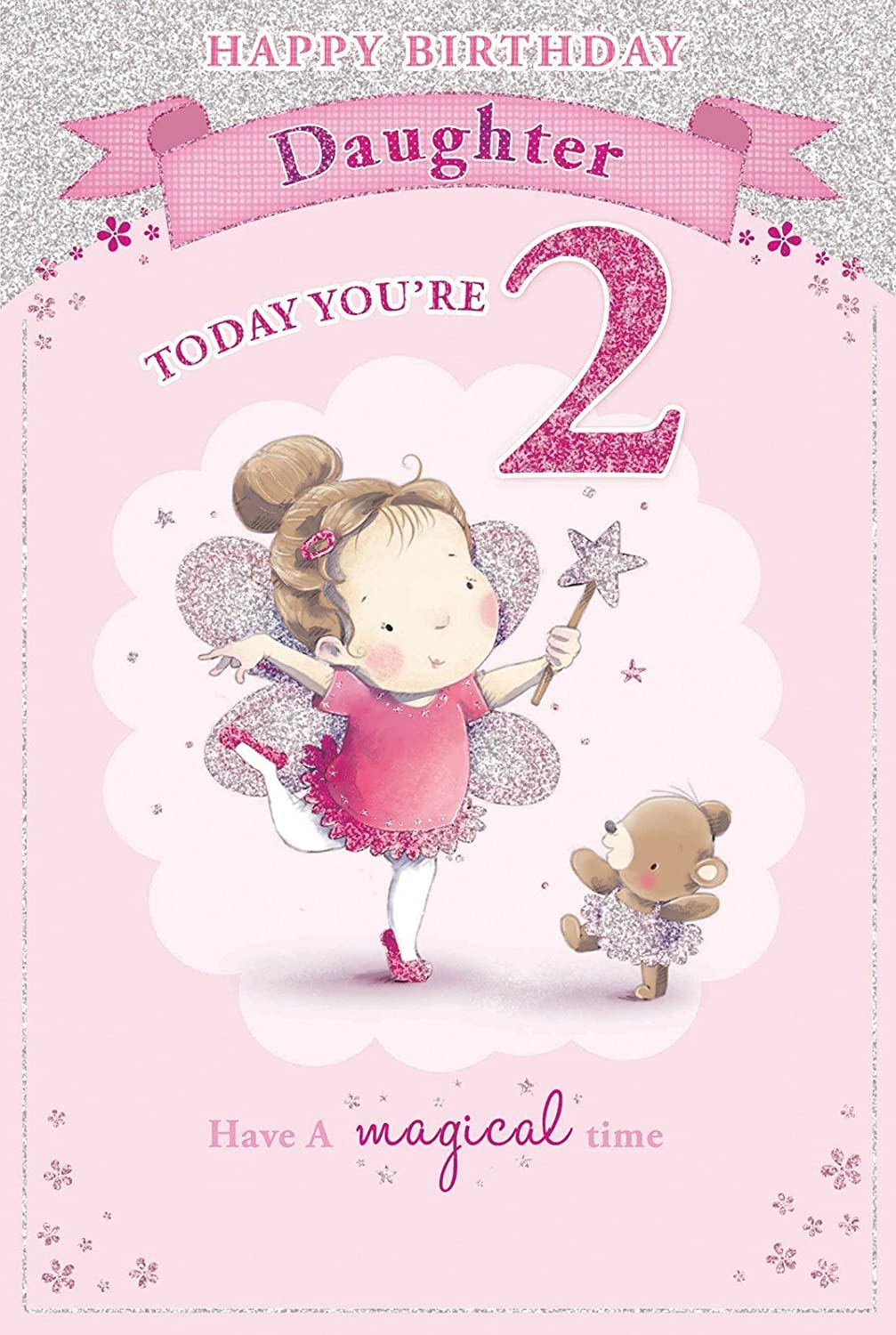 Daughters 2nd Birthday Card