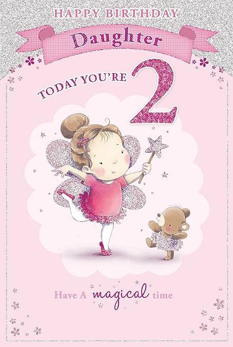 Hija de la 2 nd Tarjeta de cumpleaños - 2 hoy de la ...