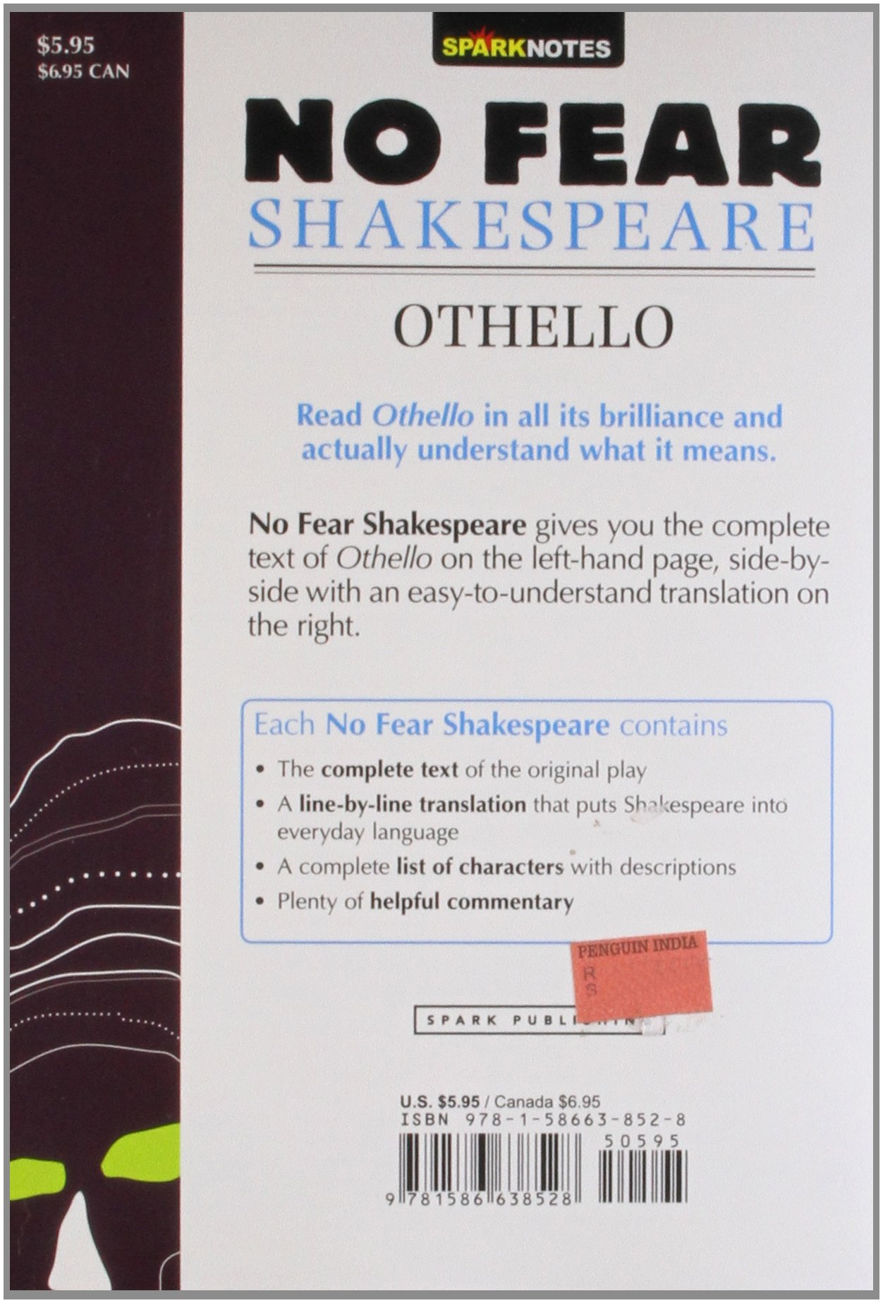 Othello Sparknotes No Fear Shakespeare Amazon Sparknotes
