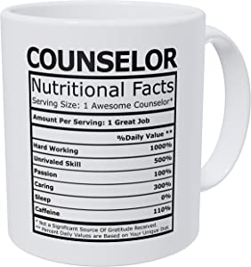 Wampumtuk Counselor Nutritional Facts Funny Coffee Mug 11 Ounces Inspirational And Motivational