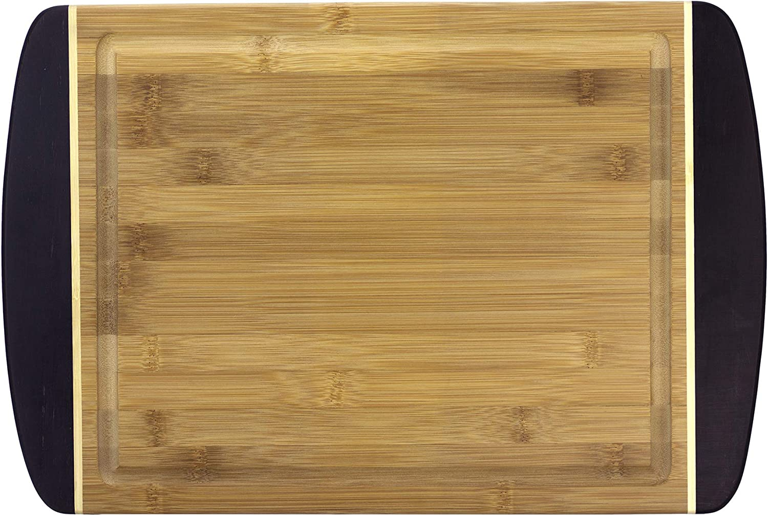 Totally Bamboo 13-Inch Red Grippy Groove Cutting Board 20-1712
