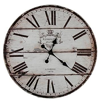 Roomando Xxl Wanduhr Uhr ø 58 Cm Shabby Vintage Motivuhr Küchenuhr