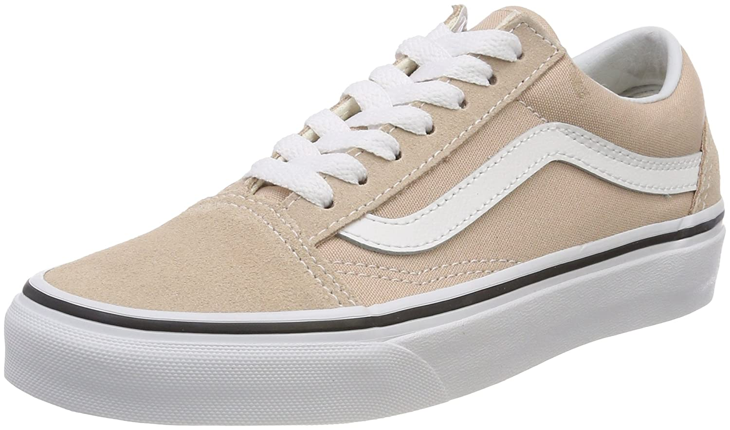 Vans Unisex Old Skool Classic Skate Shoes B074H98Q9G 9 Women / 7.5 M US Men|Frappe True White