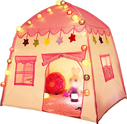 uniquevc-kids-princess-play-tent-indoor