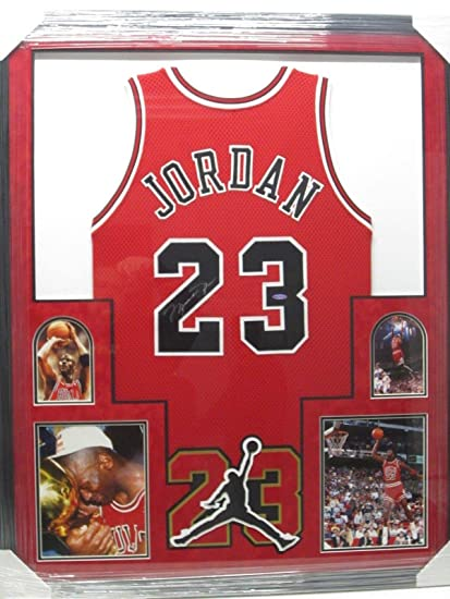 Image Unavailable. Image not available for. Color  Signed Jordan Photograph  - Jersey Framed ... 1bfa3d0ea