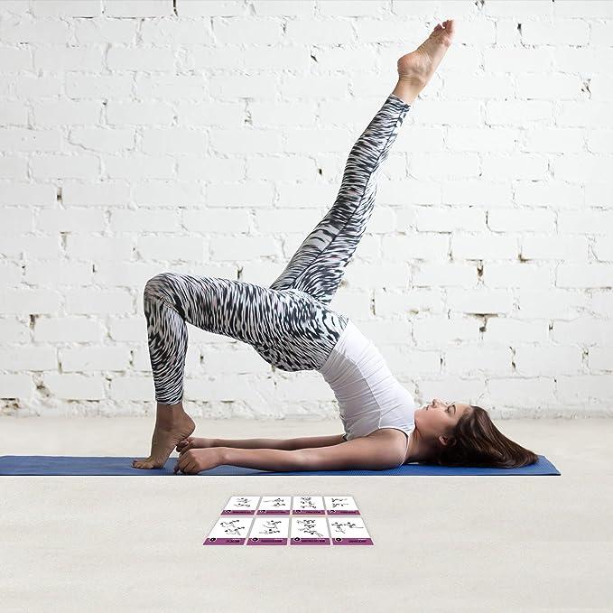 Amazon.com: Pilates - Juego de 62 tarjetas de ejercicio para ...