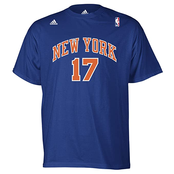super popular 073b8 c35b6 NBA New York Knicks Jeremy Lin #17 Name And Number T-Shirt