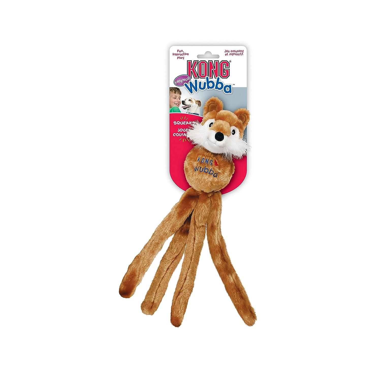 Kong Hunter Wubba Friends Hundespielzeug, Plüsch mit Squeaker 22 cm 46594